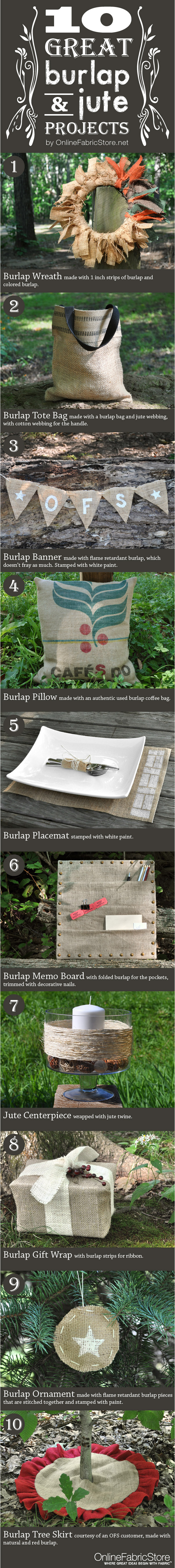 10 Great Burlap & Jute Projects from OFS