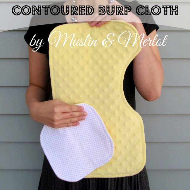 Baby Gift Tutorial: Minky Burp Cloth