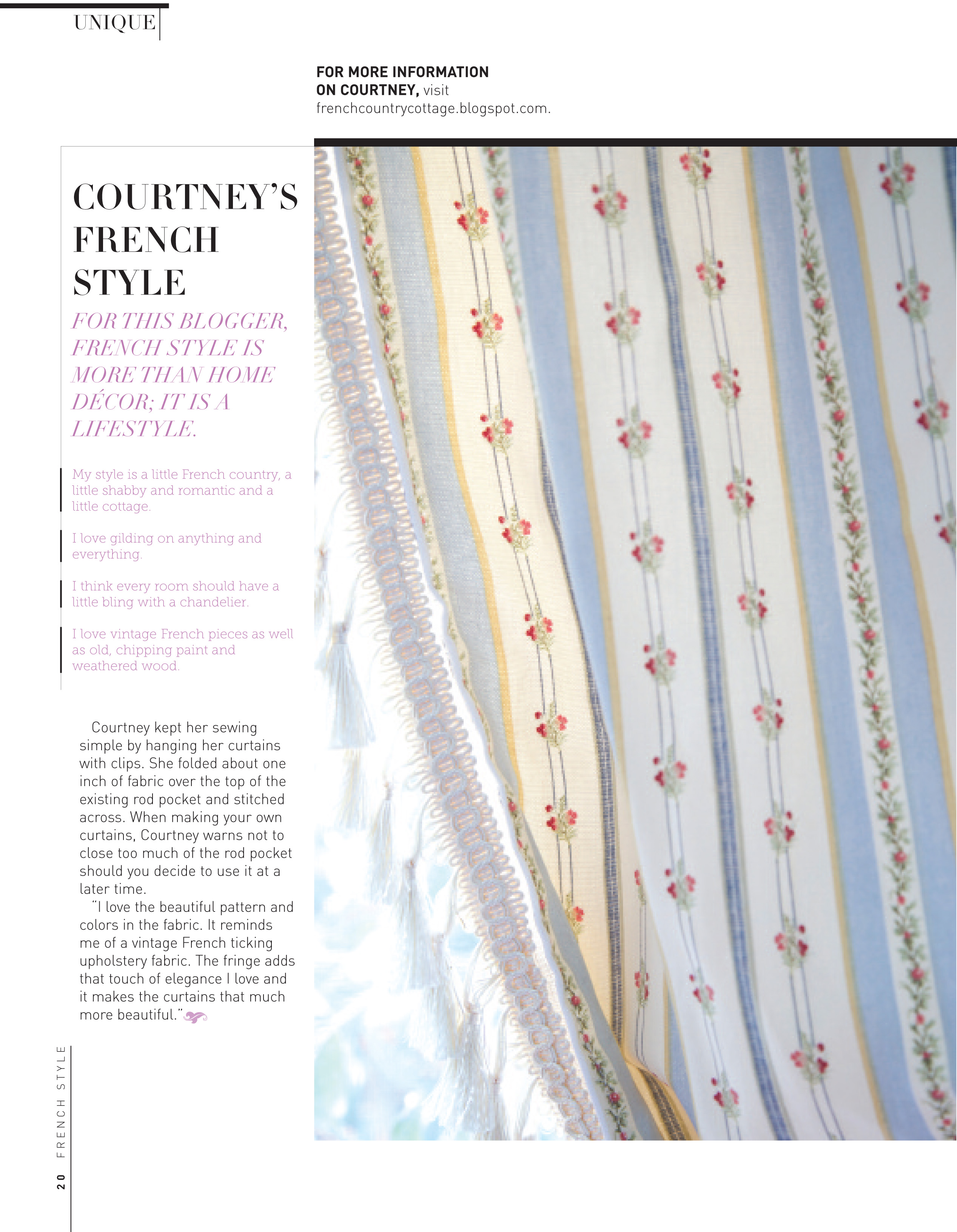 French country cottage curtains perfect french country for French country magazine online