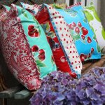 Outdoor Oilcloth Pillows