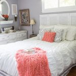 Coral & Gray Bedroom Inspiration