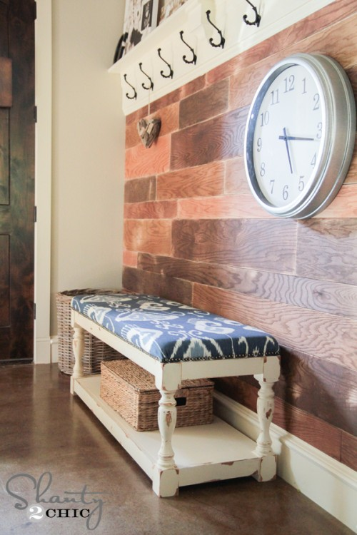 Upholstered Bench Tutorial & Building Plans