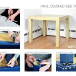 Vinyl Covered Side Table Tutorial