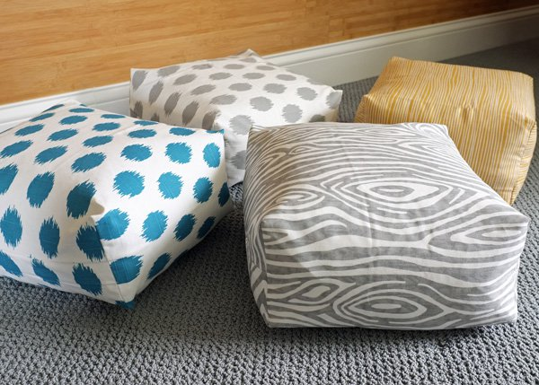 Box Cushion Floor Pillow (Video Tutorial)