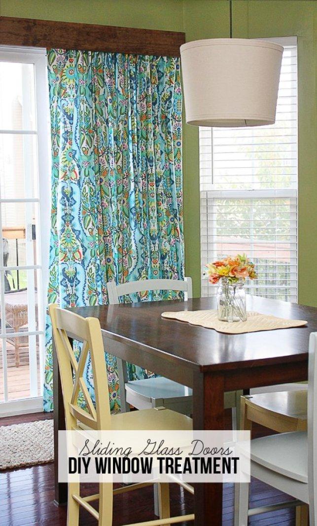 Diy Sliding Door Window Treatments Onlinefabricstore Net