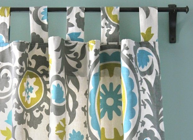 DIY Tab Top Curtains Tutorial