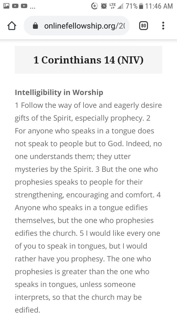 1 Corinthians 14 (NIV)