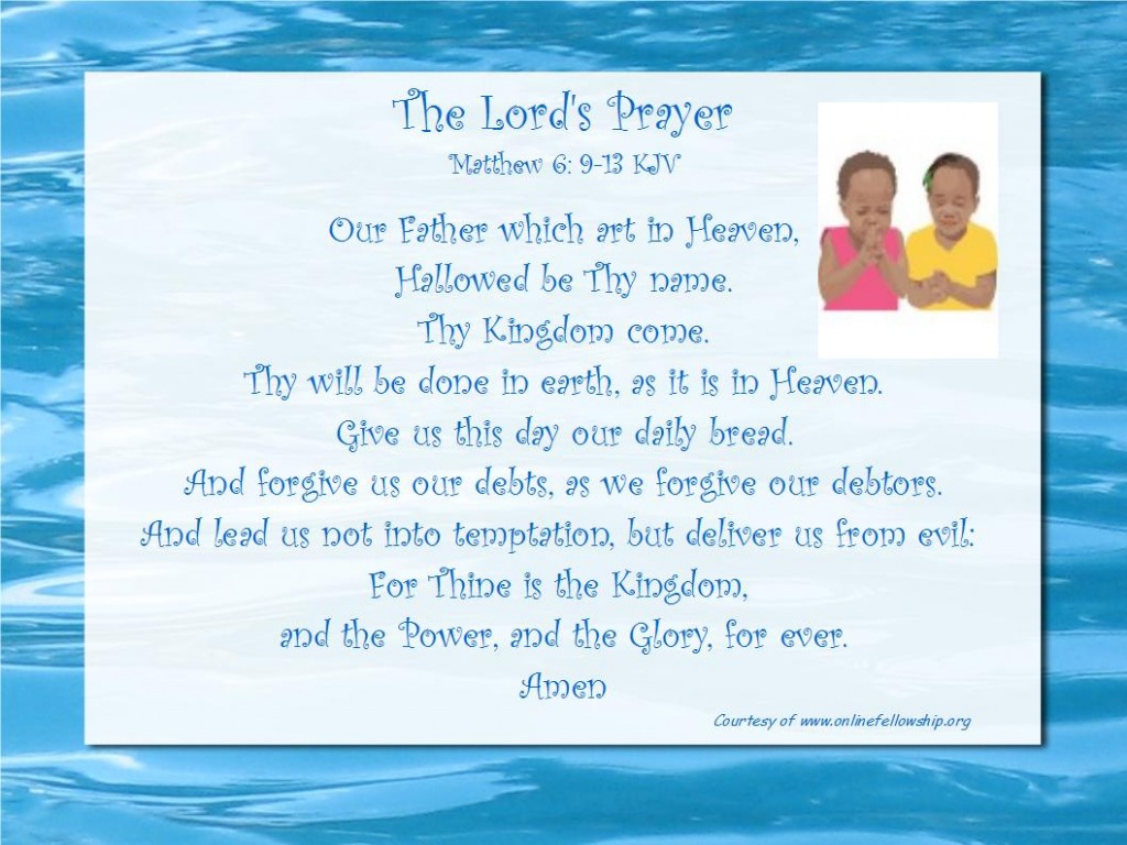 The Lord S Prayer Online Fellowship
