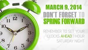 Daylight Savings Time TONIGHT!!
