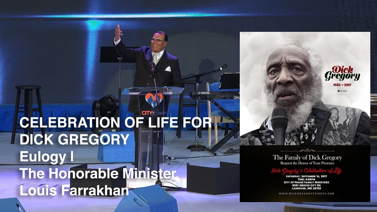 Dick Gregory Celebration of Life – Minister Louis Farrakhan Eulogy (HD)