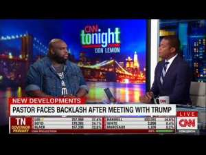 Don Lemon #tear with Pastor who met Trump – was Pastor a prop for Trump?
