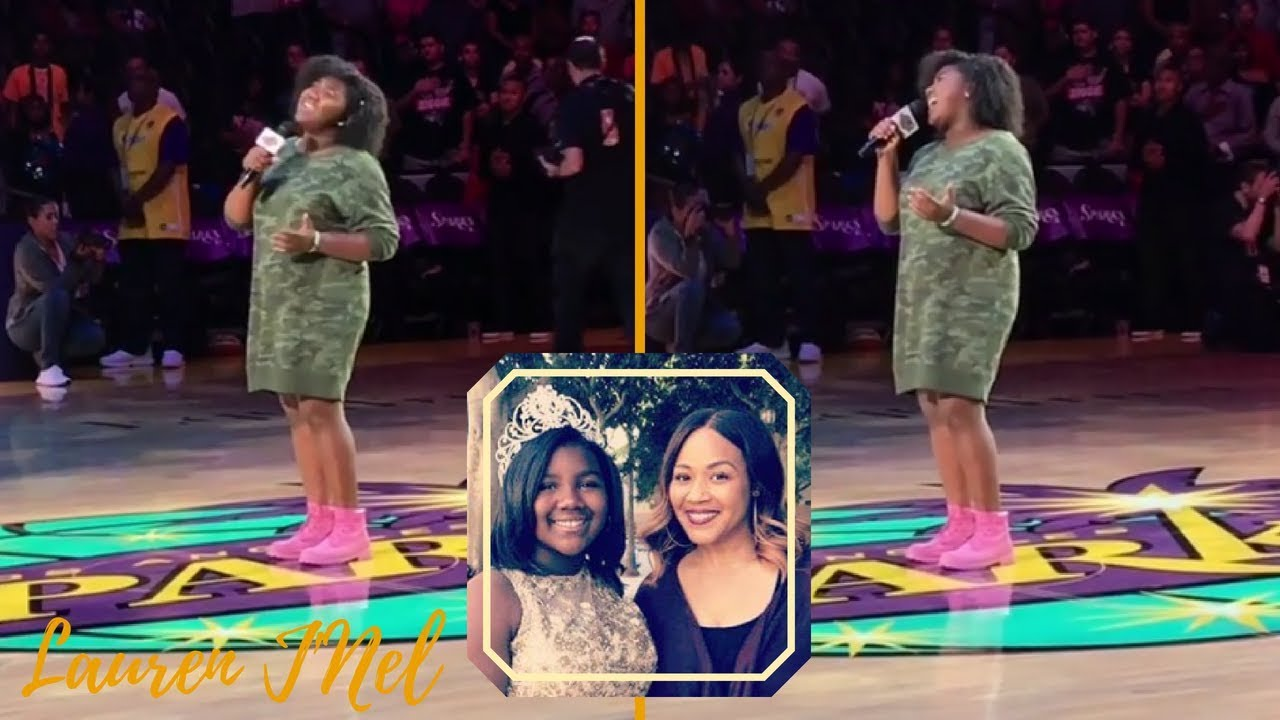 Just Like Mom! Erica Campbell's Daughter Krista Sings National Anthem For WNBA Game