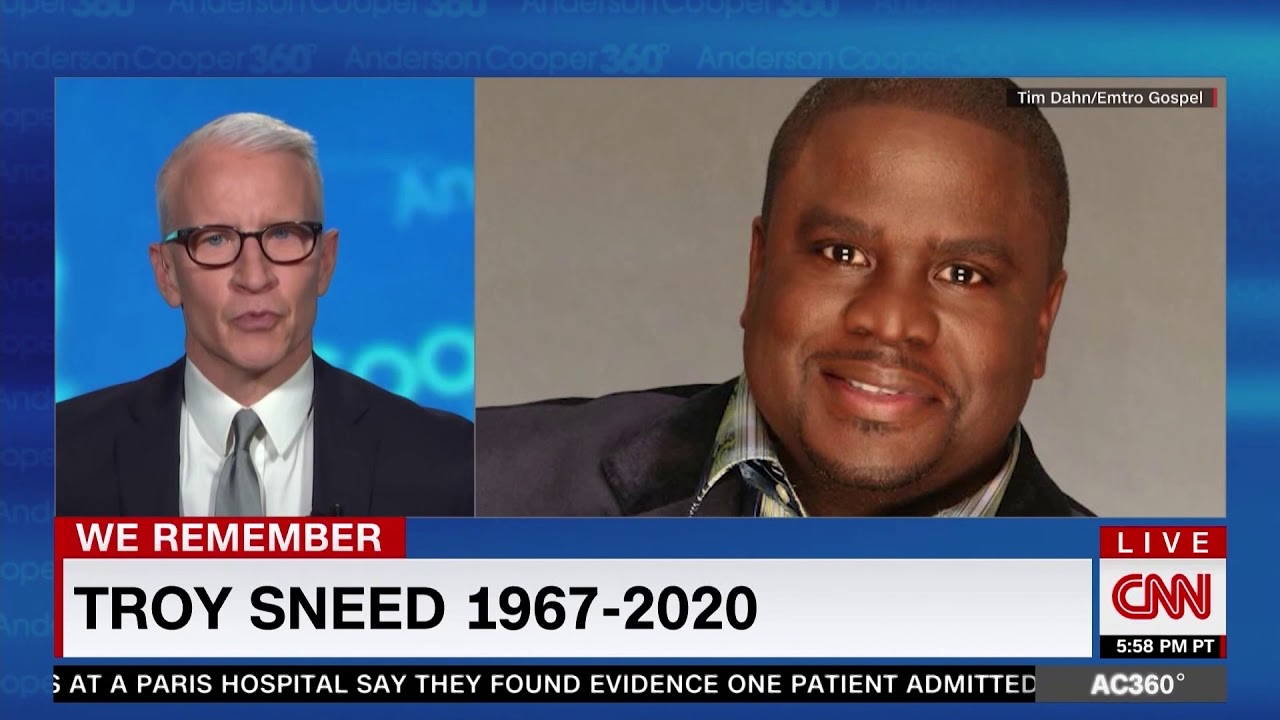 Anderson Cooper Remembers Gospel Singer Troy Sneed