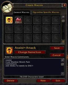 World of WarCraft Slash Commands