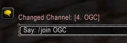 WoW OGC Chat Channel Commands