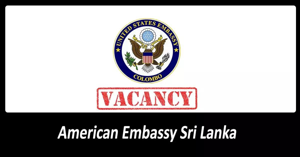 Vacancies in American Embassy, Colombo - OnlineJobs lk