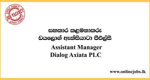 Assistant Manager (Enterprise Channels and Partner Engagement) Job Role at Dialog Axiata PLC