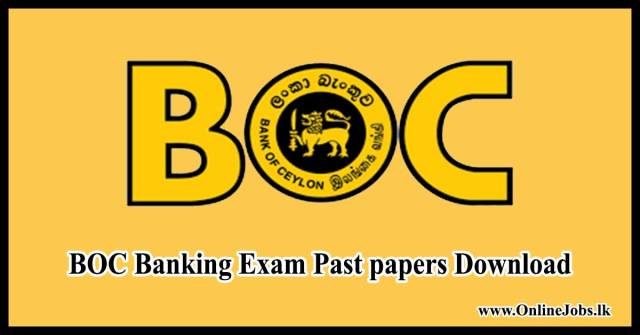 BOC Banking Exam Past papers Download