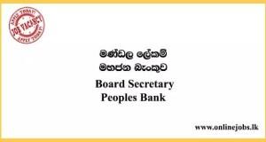 Board Secretary - Peoples Bank