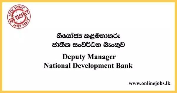 Deputy Manager National Development Bank