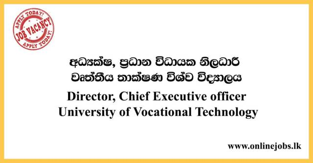 Director, Chief Executive officer - University of Vocational Technology Jobs