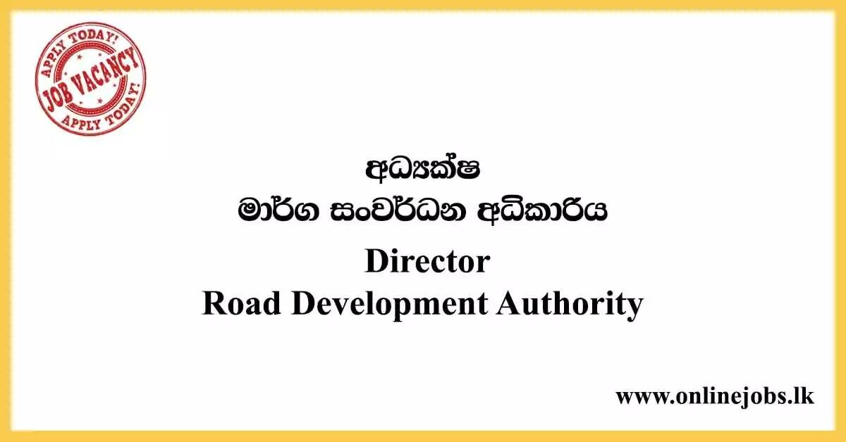 Director - Road Development Authority Vacancies 2021