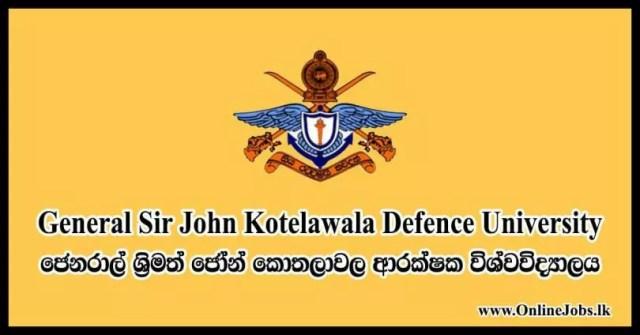 General Sir John Kotelawala Defence University