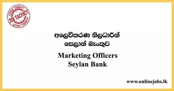 Marketing Officers Seylan Bank