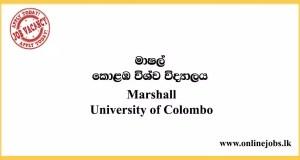 Marshall - University of Colombo Vacancies 2020