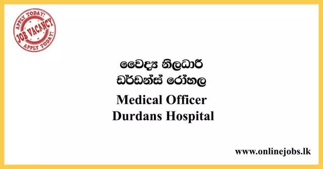 Medical Officer - Durdans Hospital Job Vacancies