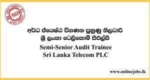 Semi-Senior Audit Trainee - Sri Lanka Telecom Vacancies 2020