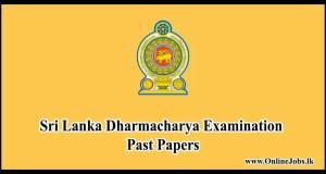 Sri Lanka Dharmacharya Examination Past Papers