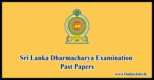 Sri Lanka Dharmacharya Examination Past Papers