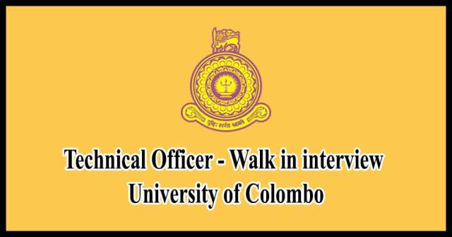 Technical-Officer-Walk-in-interview