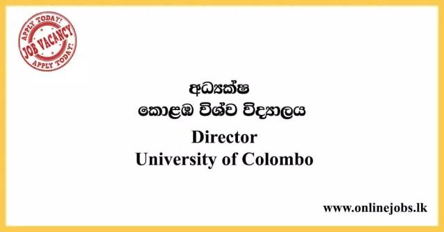 Director - University of Colombo Vacancies 2020