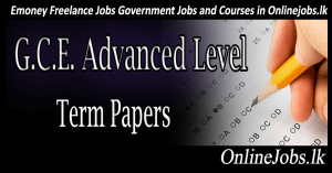 Grade 13 Exam Papers - OnlineJobs lk