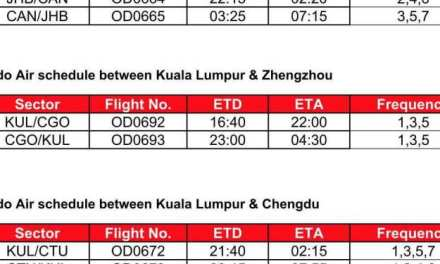 MALINDO AIR COMMENCES FIRST FLIGHT FROM JOHOR BAHRU TO GUANGZHOU, CHINA