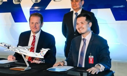 BOMBARDIER CELEBRATES DELIVERY OF Q400 AIRCRAFT TO QAZAQ AIR