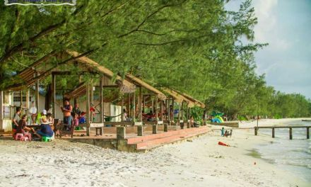 The once deserted beach turning into a popular tourist attraction in Combodia