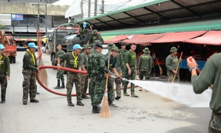 Thai army disinfects Bangkok roads nightly to combat the spread of COVID-19