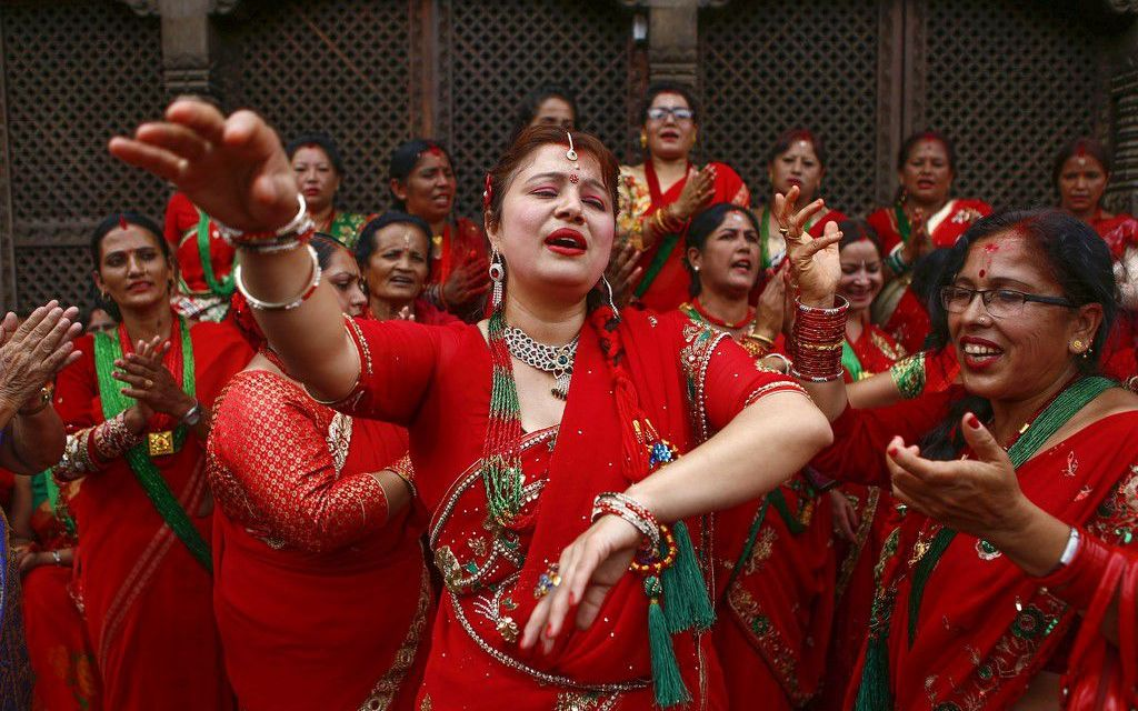 Teej – The Women's Day in red