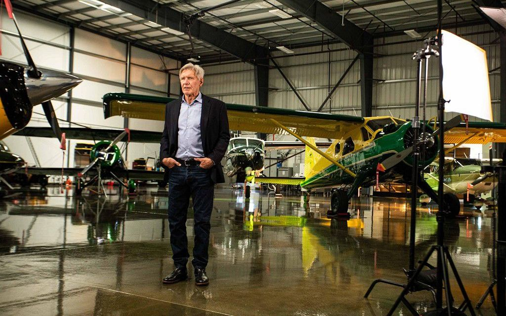 Harrison Ford Helps Promote Airlink Disaster Relief Work