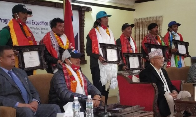 Nepali mountaineers felicitated for their historical wintertime ascent of Mt. K2