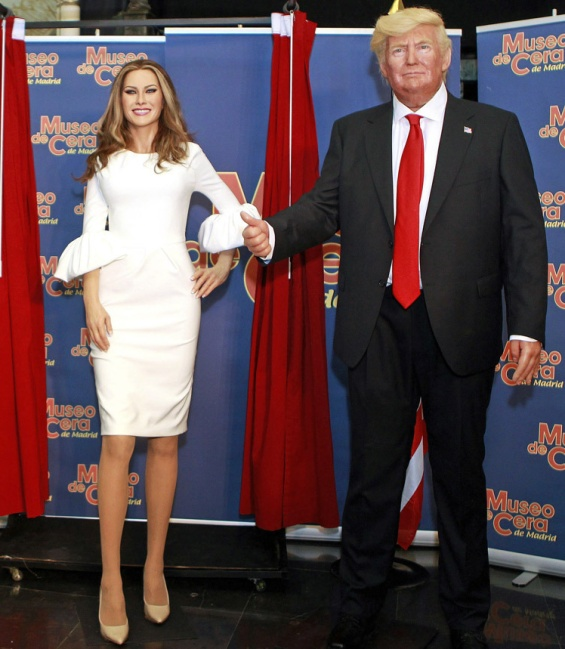 Melania Tramp, Wax Figure, Melania Trump Wax Figure, Donald Trump, Madrid