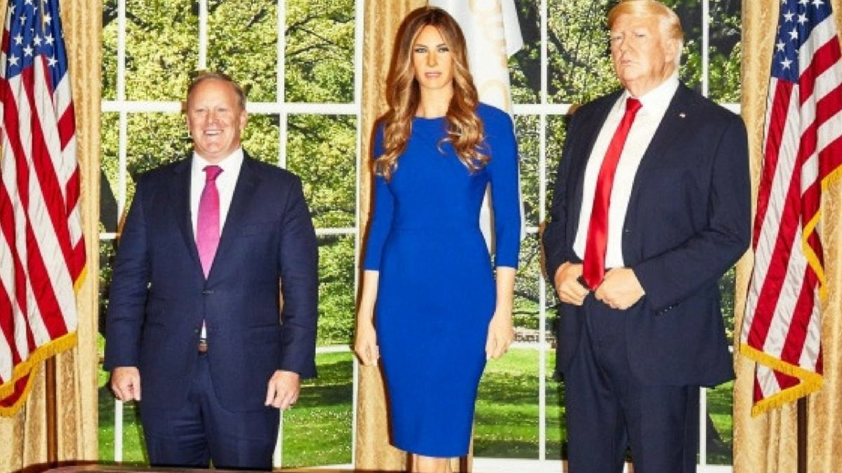 Funny: Melania Trump Wax Figure at at Madame Tussauds in New York