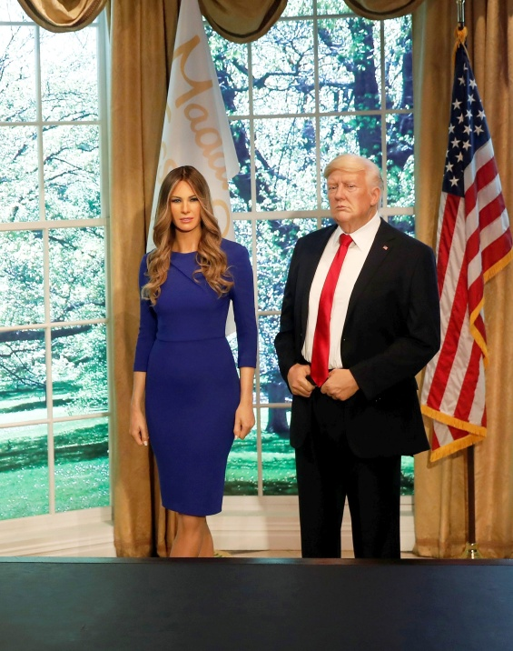 Melania Tramp, Wax Figure, Melania Trump Wax Figure, Donald Trump