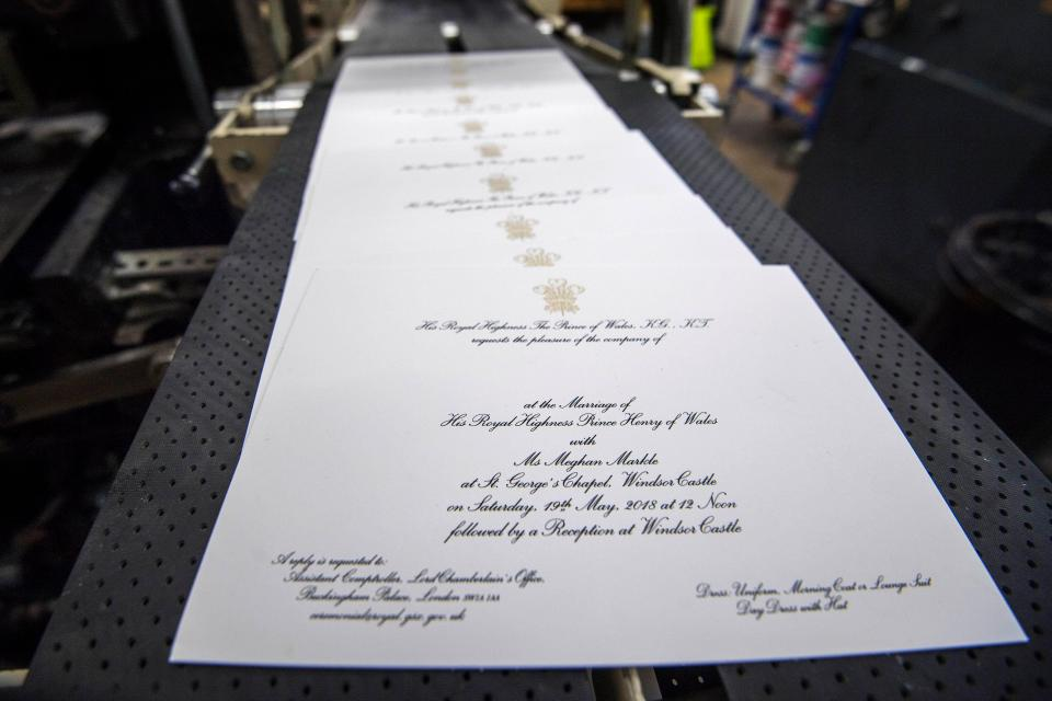 Royal Wedding, Invites, Printed Invites, Prince Harry, Meghan Markle