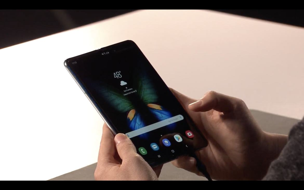 The bigger screen on the Samsung Galaxy Fold
