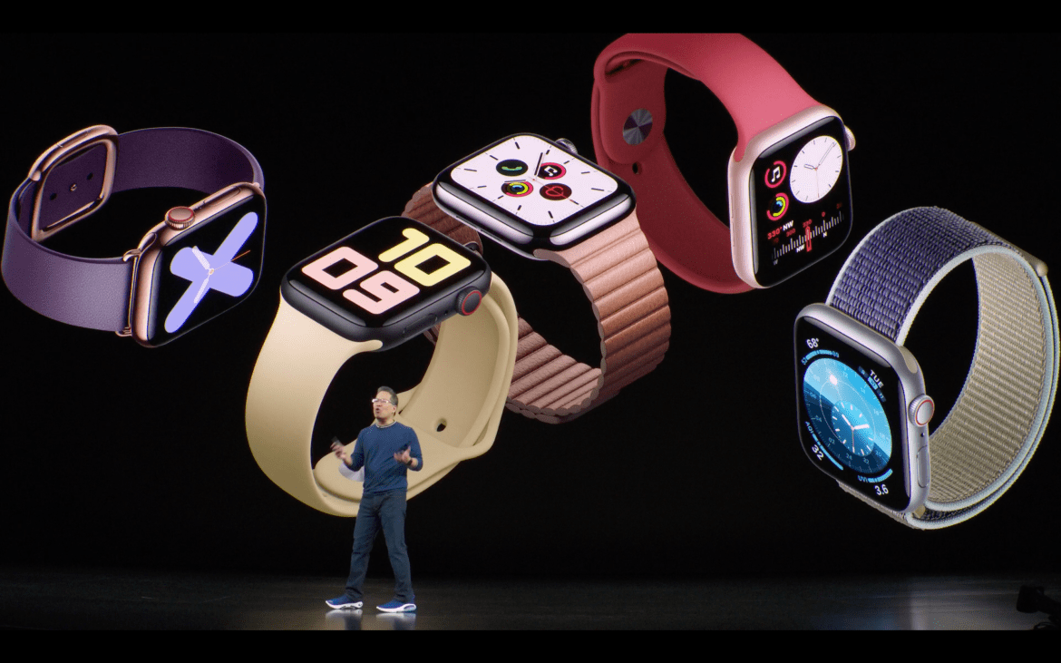 Apple Watch Series 5 on stage at Apple Event