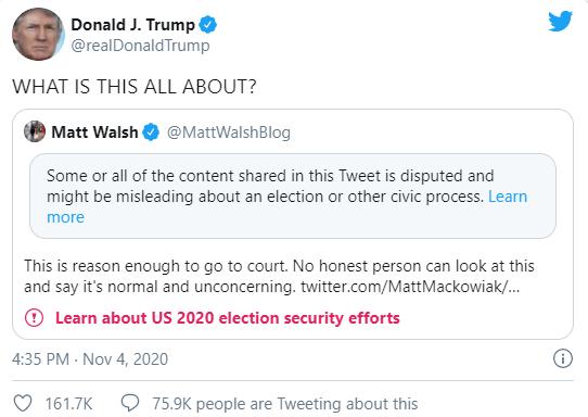 Donald Trump Tweet about Joe Biden Wn